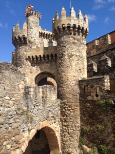The 12th Century Knights of the Templar castle in Ponferrada.